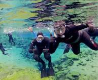 Snorkeling in Wetsuit in Iceland