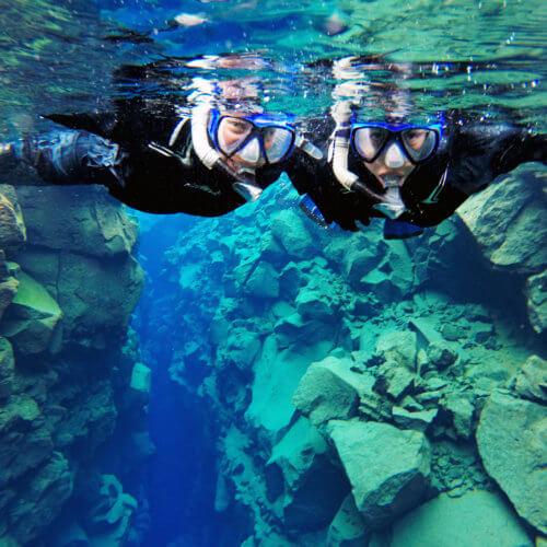 Silfra Drysuit Snorkeling